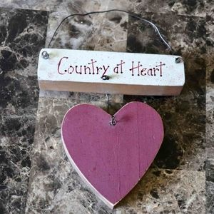 Other - 3 for $15   Country at heart wooden wall decor